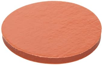 "Kimax 73816-18 PTFE-Faced Red Rubber Flat Disc Septa, 0.060"" Red Rubber Thickness, 18mm Diameter (Case of 144)"