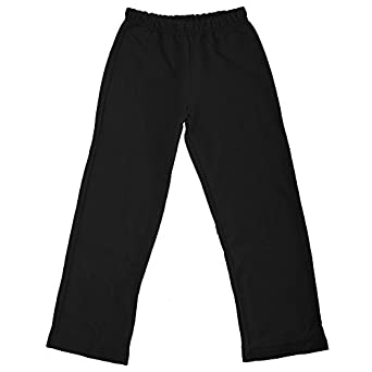 Gildan Childrens Heavy Blend Open Bottom Sweatpant / Jogging Pants (S) (Black)