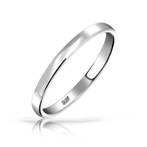 Bling Jewelry .925 Sterling Silver Wedding Band Thumb Toe Ring 3mm With Free Engraving