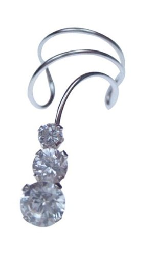 Sterling Silver Pierceless Left Only Ear Cuff Wrap Earring