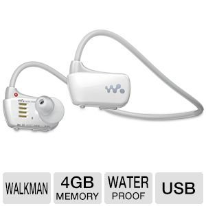 Sony NWZ-W273WHT Waterproof 4 GB Walkman Sports MP3 Player, (White)