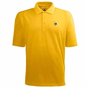 Minnesota Vikings Pique Xtra Lite Polo Shirt (Alternate Color) by Antigua