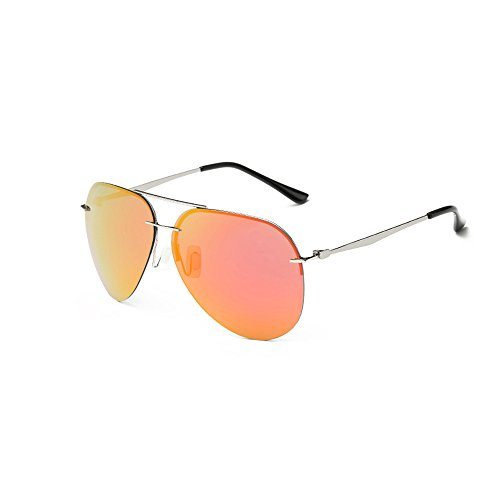 NEW Classic Ladies occhiali da sole maschio Occhiali da sole polarizzati, UV400, Bravoe, Orange