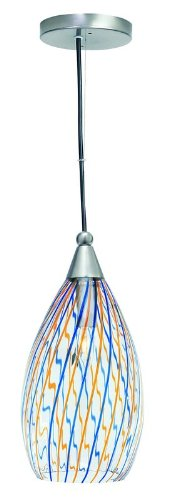 Lite Source LS-1427 Whimsy Pendant Lamp with Colored Glass Shade