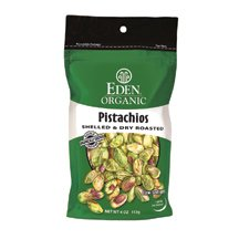 Organic Shelled Dry Roasted Pistachio 4 oz. (Case of 15) ( Value Bulk Multi-pack)