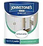 Johnstone's 303912 One Coat Satin Paint - Brilliant White