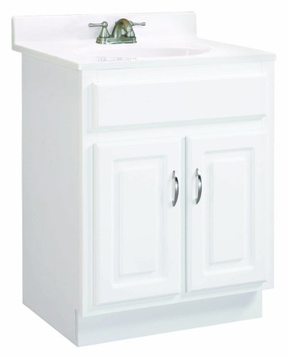 Design House 531277 Concord Ready-To-Assemble 2 Door Vanity, White, 30-Inch by 18-Inch