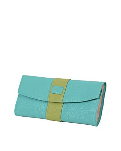 Morelle & Co. Two-Tone Jewelry Envelope, Lime/Aqua