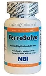 FerroSolve 30 Vegetarian Capsules by Nutritional Biochemistry