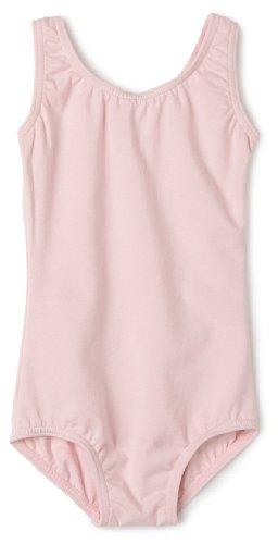 Capezio Little Girls' High-Neck Tank Leotard,Pink,S (4-6) front-985187