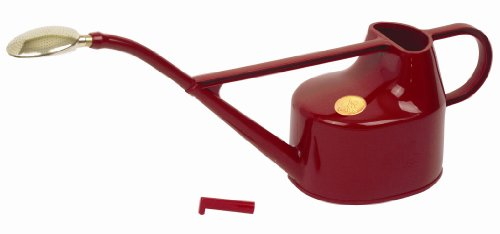 Haws Deluxe 5-litre Outdoor Watering Can: Red