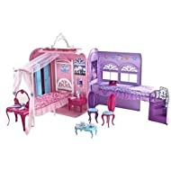 Mattel X3706 Barbie The Princess and The Popstar Princess Playset