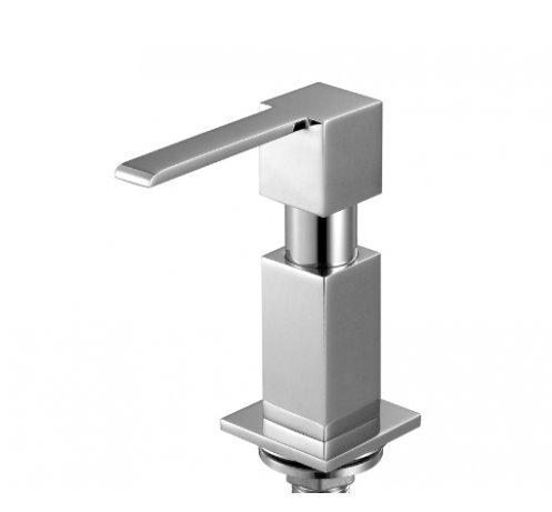 Dispenser sapone MIZZO Perla in 100% acciaio inossidabile, distributore/dosatore sapone liquido da incasso - 5 anni di garanzia. Accessorio acciaio inox cromato per lavabo da cucina