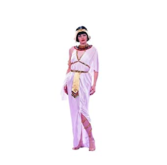 RG_COSTUMES Mens Adult Female Cleopatra Dlx-white, Adt Costume