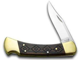 Buck 110 Folding Hunter 1/400 Timber Rattler Etched Wooden USA Pocket Knife Knives