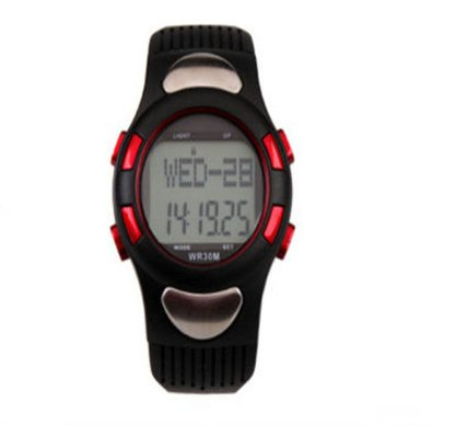 ULEKFZ Lentenda Fashion 3d Pedometer Sports Watch with the Function of the Heart Rate Test