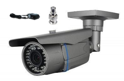CMVision CMF9978 Sony Effio-E 700TVL with OSD Menu 42pc LED Waterproof Indoor/Outdoor IR Camera 2.8-12mm lens with FREE Mounting Bracket and 1A 12V DC Power Adaptor , RCA to BNC Connector