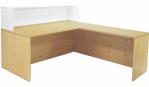 White l Shaped Desk Maple/white 71 L-shaped