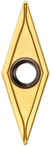 Sandvik Coromant TR-VB1304-F 1025 GC1025 Grade, PVD Coated, 35 Degree Diamond Shape, F Chip Breaker, 1304 Insert Size, 0.1781