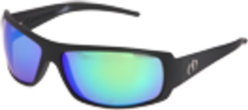 Electric Visual Charge Wrap Sunglasses,Matte Black Frame/Grey With Green Chrome Lens,One Size