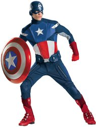 Avengers - Men's Costume: Captain America Avengers Theatrical- Standard
