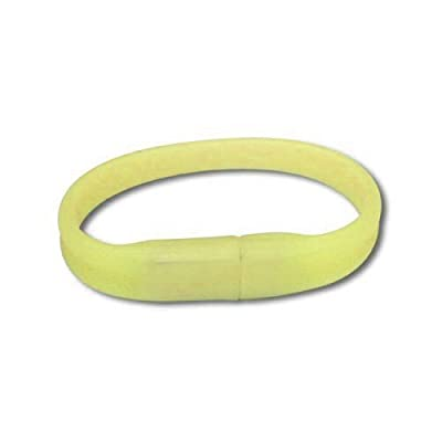 8GB Sunshine Yellow Wrist Band USB Flash Drive from VTEC