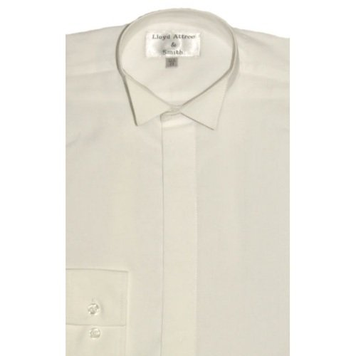Boys Smart Wing Collar Dress Shirt Ivory with Single Cuff ideal for weddings