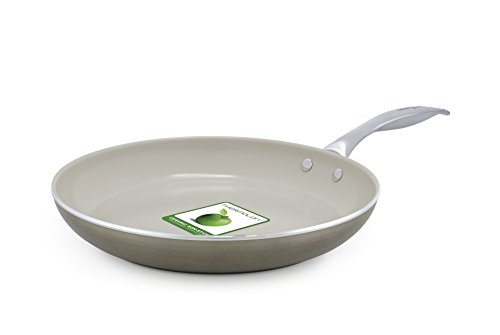 Trisha Yearwood Royal Precious Metals 10 Inch Non-Stick Ceramic Fry Pan, Titanium