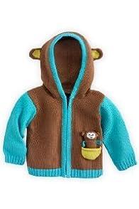 Joobles Organic Baby Cardigan Sweater - Mel the Monkey