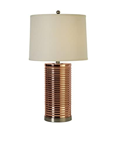 Trend Lighting Arctica Table Lamp, Off-White/Rose Gold