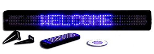 One Line Semi-Outdoor Blue Led Programmable Display Sign With Wireless Remote Control