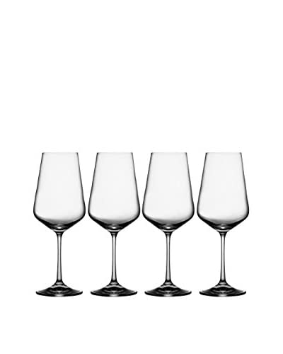 Jay Imports Set of 4 Sarah Wine Goblets, Clear