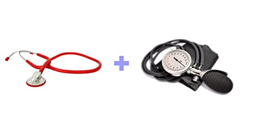High Quality Stethoskop ROT + Premium 2-Schlauch