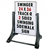 Swinger Sidewalk Sign Changeable Message Board Sign, White