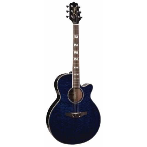 Cutaway Acoustic-Electric Guitar with Free Hardshell Case - Blue Quilt