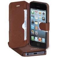 Great Sale LAX Gadgets FL-IP5/BR LAX Premium Folio for iPhone 5 - Carrying Case - Retail Packaging - Brown