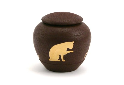 Near & Dear Pet Memorials Silhouette Cat Urn,