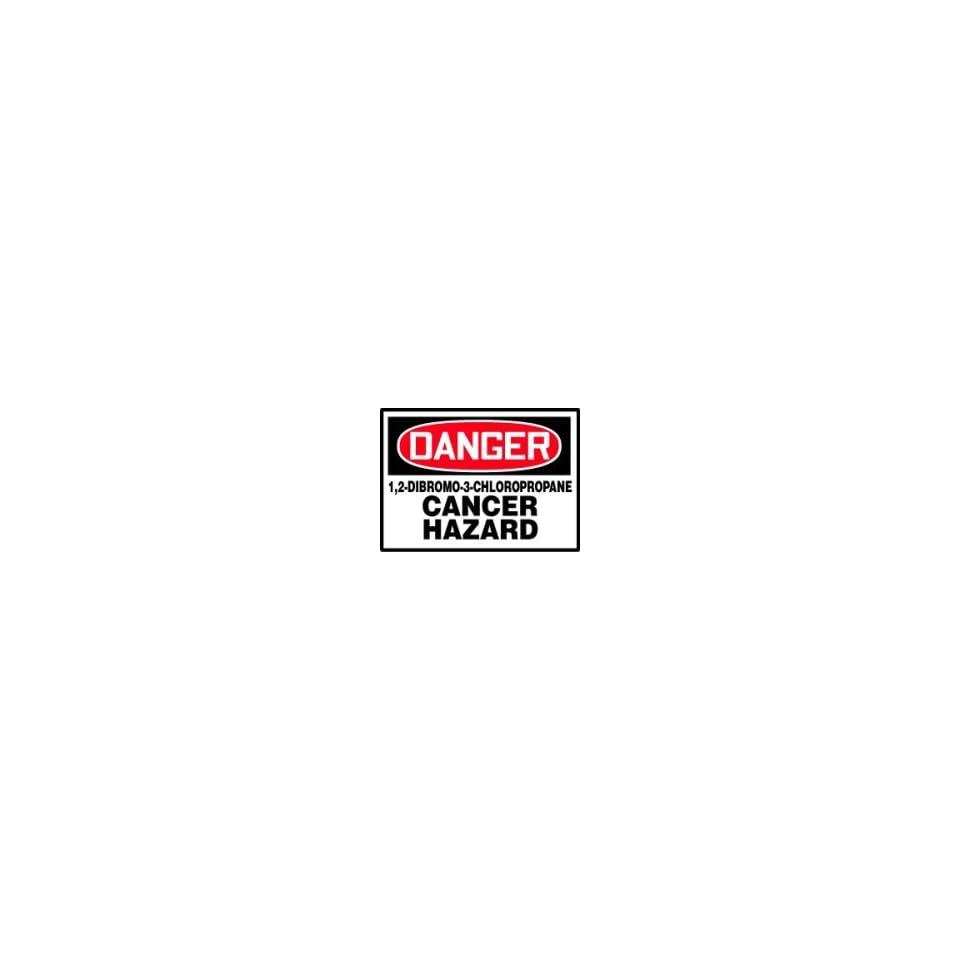 DANGER Labels 1,2 DIBROMO 3 CHLOROPROPANE CANCER HAZARD Adhesive Vinyl   5 pack 3 1/2 x 5
