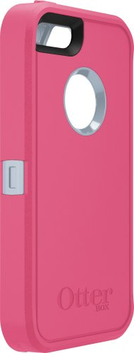 Great Sale OtterBox Defender Series Case for iPhone 5S - Retail Packaging - Pink/Gray