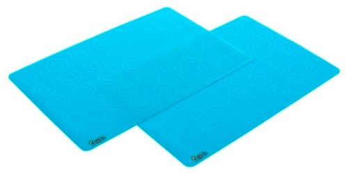 Zoli Baby Matties Silicone Travel Mats - Blue - 2 ct