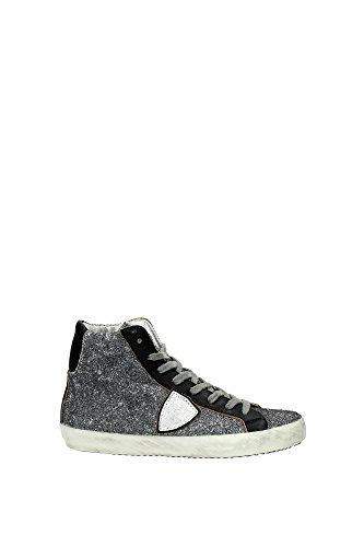 Sneakers Philippe Model Donna Glitter Grigio, Nero e Argento CLHDSB03 Grigio 40EU