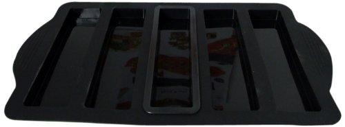 Yoko Design 1237 Moule à Pizza Silicone/Platine Noir 42 x 24 x 2 cm