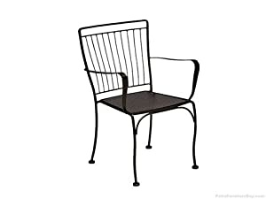 Easton Stacking Dining Arm Chair Finish: Black