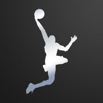 Basketball Player shots dunk... Chrome Mirror (16 X 9.6 inch) ZEWWW