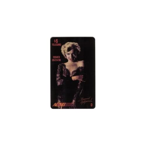 Marilyn Collectible Phone Card $6. Marilyn Monroe (Black Lace Dress   O) Issued 9/24/96 SPECIMEN
