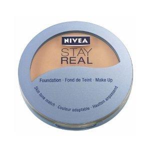 Nivea Stay Real compatta make-up il si adatta al tonalità della pelle. Make-up Foundation 9G N. 00Natural Vanilla nuovo. Compact make-up Foundation Trucco