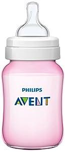 Philips Avent Classic - Biberón con tetina de flujo para recién nacidos por Philips