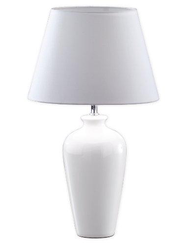Honsel-Leuchten-55771-Tischleuchte-chrom-Keramik-wei-Schirm-wei