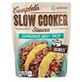 Campbell's Slow Cooker Sauces Shredded Beef Taco 12 oz