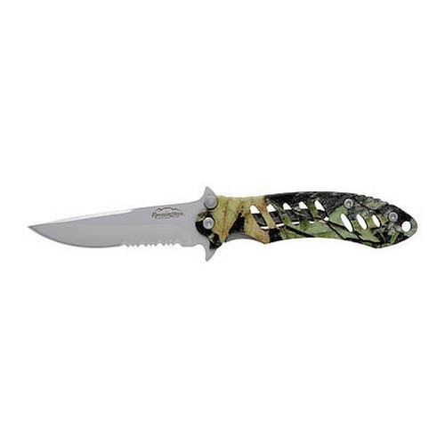 Remington F.A.S.T. Camo Mossy Oak Obsession/Stainless Steel Folder Knife (Large)